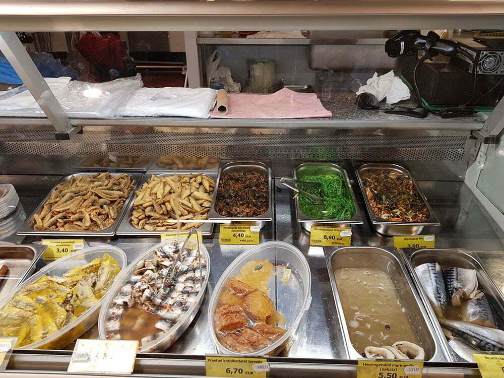 Цены на рыбные блюда на таллинском рынке