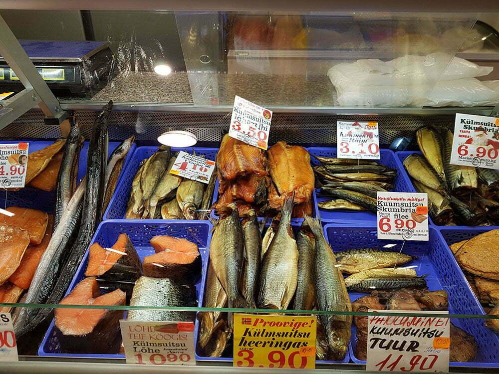 Цены на рыбу на таллинском рынке