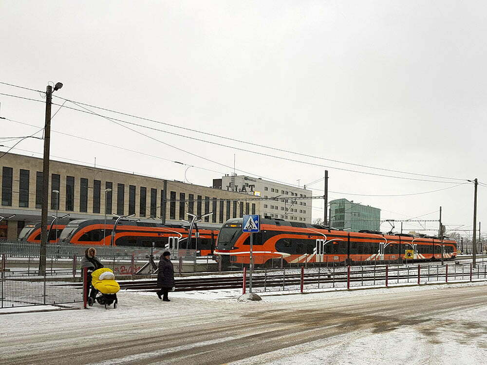 Балтийский вокзал в Таллине. Эстонские электрички.
