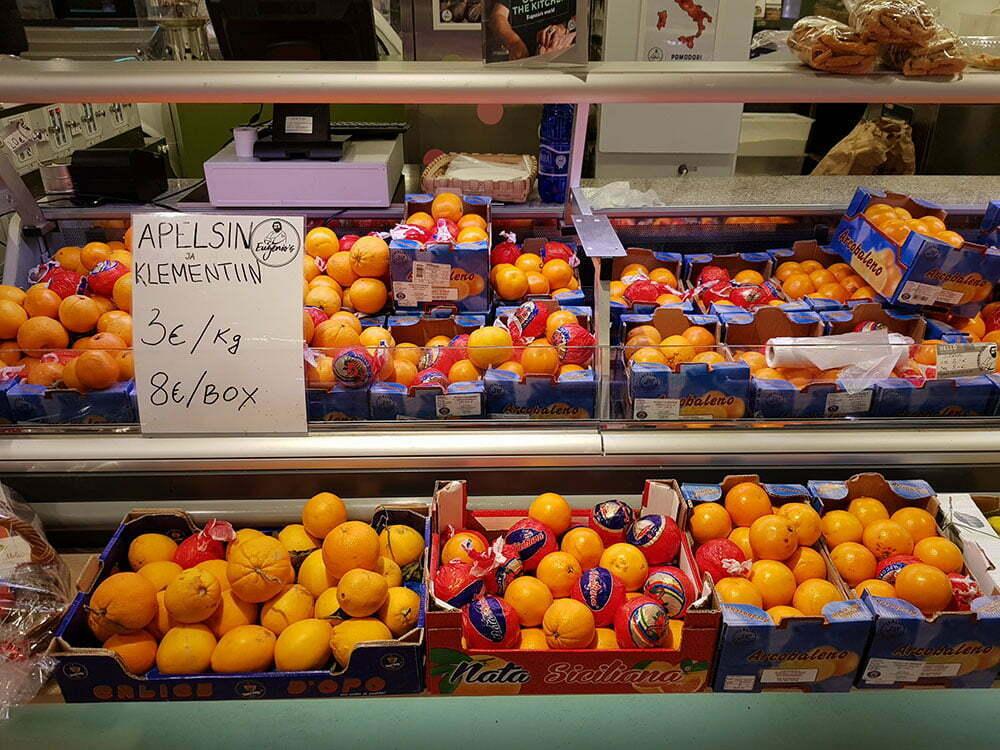 Цены на апельсины в Эстонии