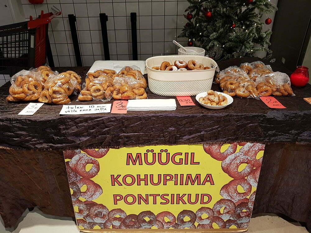 Пышки на рынке Таллина