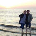 Закат на пляже Хук-ван-Холланд