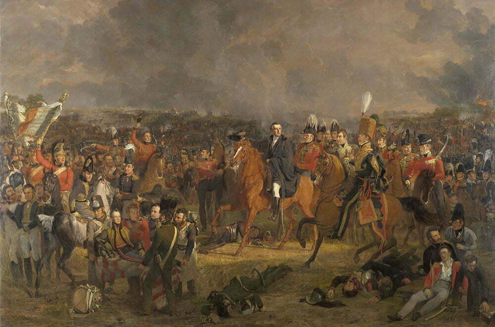Битва при Ватерлоо, Ян Виллем Пинеман, 1824