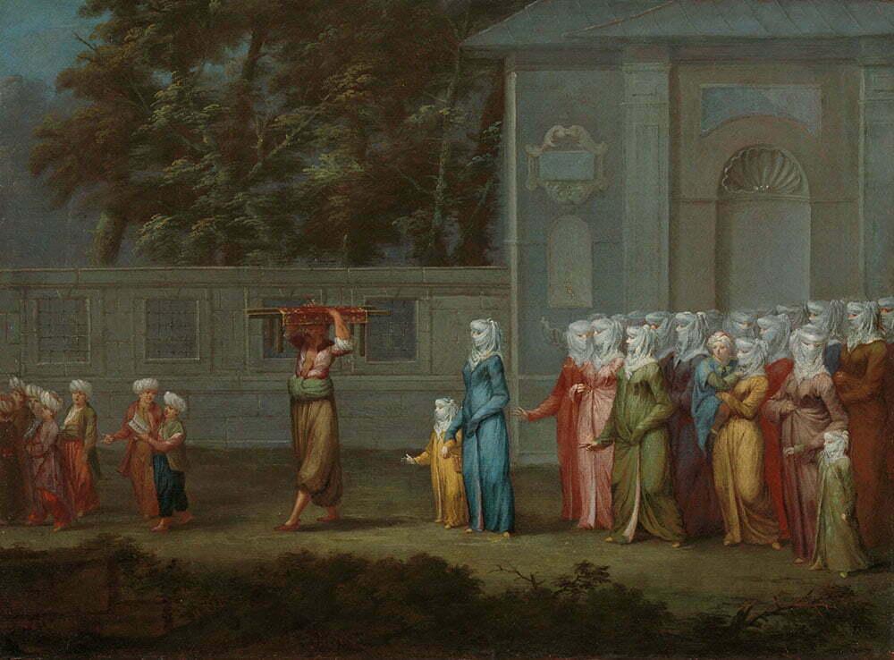 Жан Батист Ванмур - Первый день в школе - 1720-1737