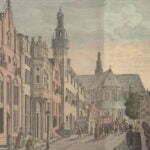 Langestraat - старинная гравюра