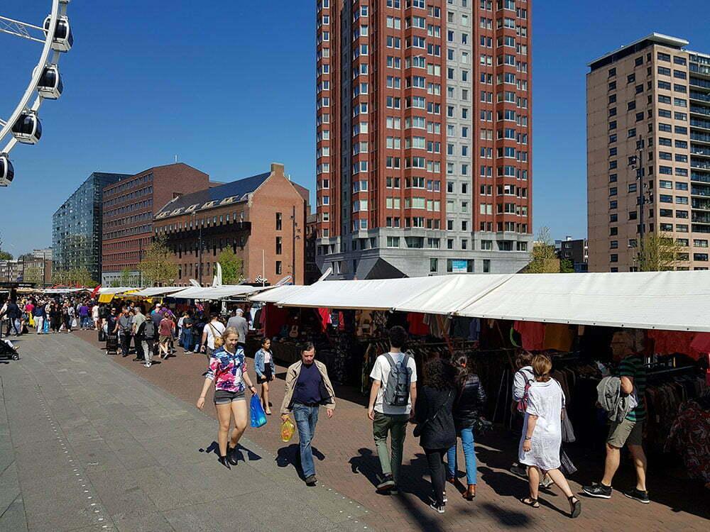 Уличный рынок в Роттердаме