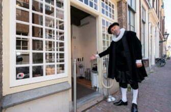 У мастерской Рембрандта в Лейдене