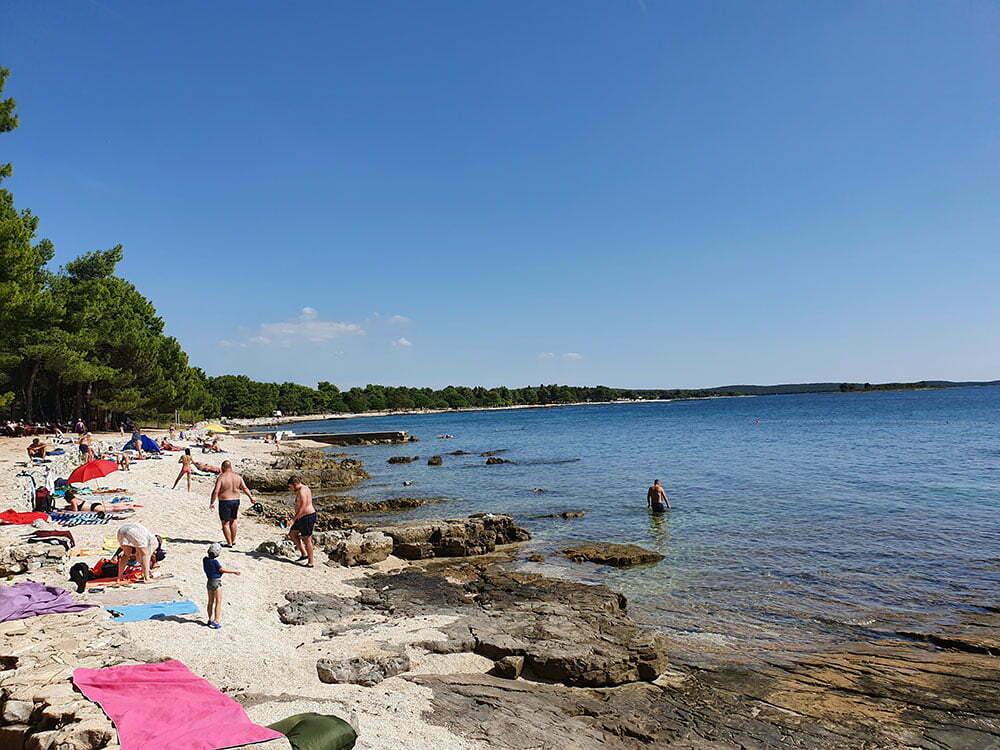 Пляж Cuve - скользкий заход