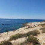 Пляж на самом краю Истрии