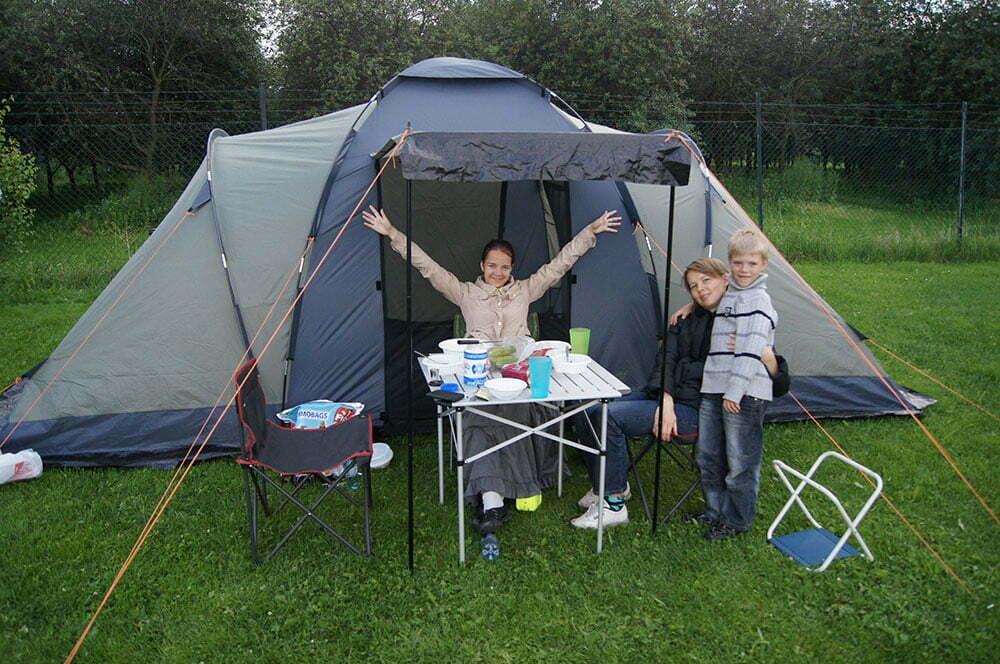 Наша палатка в Норвегии под Осло