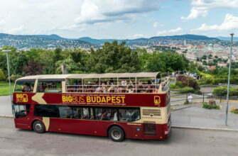 Big Bus в Будапеште на холме Геллерт