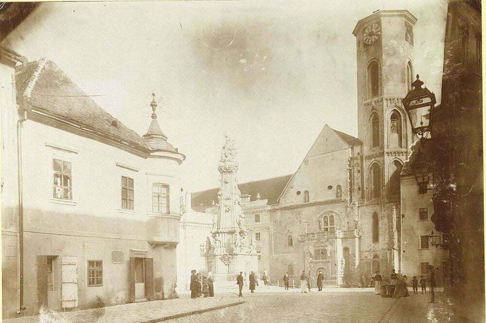 Церковь Матьяша перед последней реконструкцией, фото 1874 года