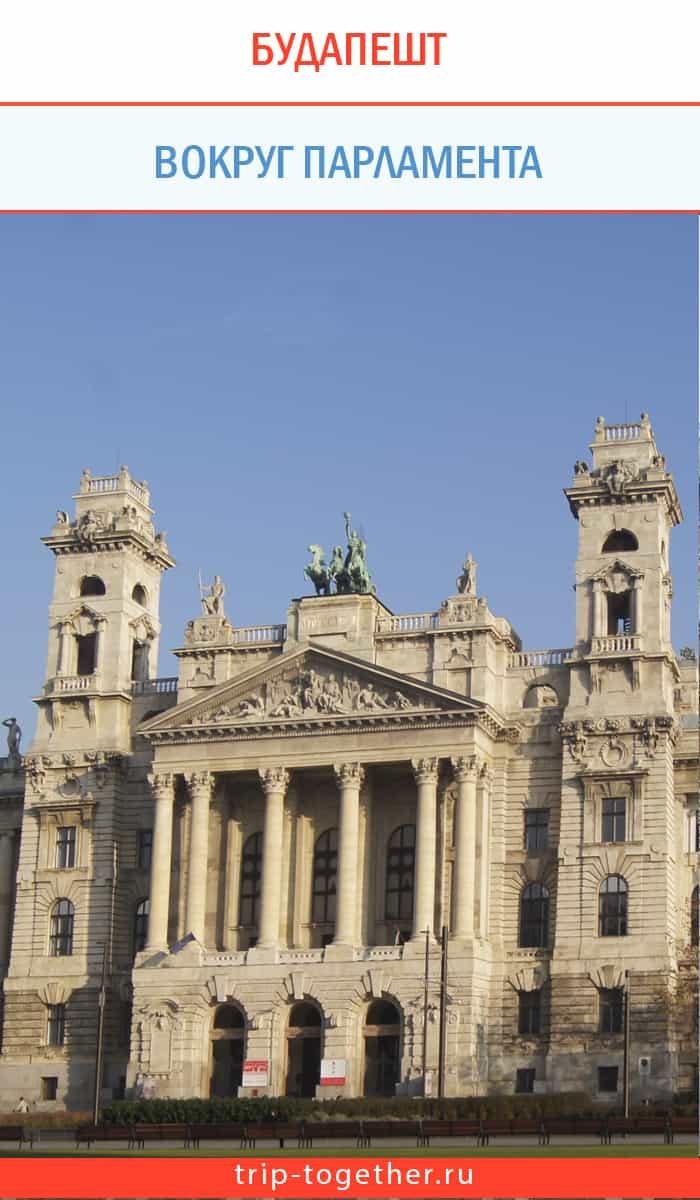 Здание бывшего этнографического музея на площади Лайоша Кошута в Будапеште
