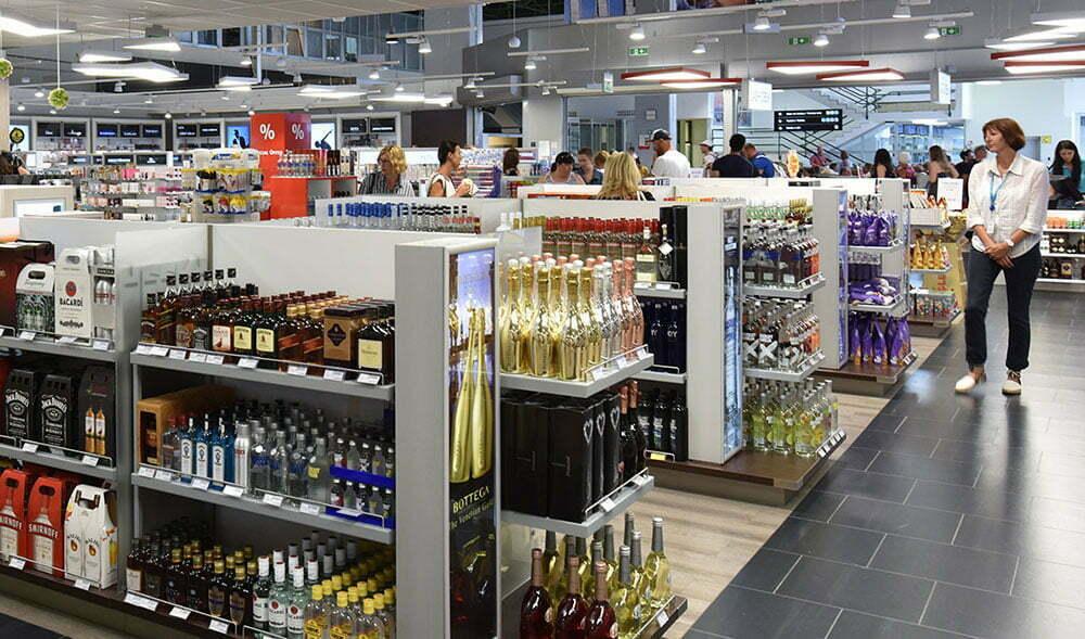 Магазин Duty Free аэропорта Пулы