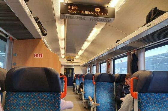 Чешский поезд внутри
