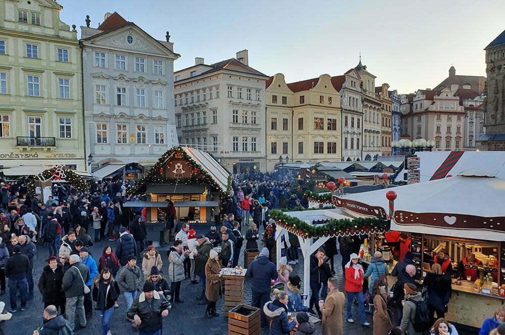 Ярмарка на Староместской площади 1 января около 14-00