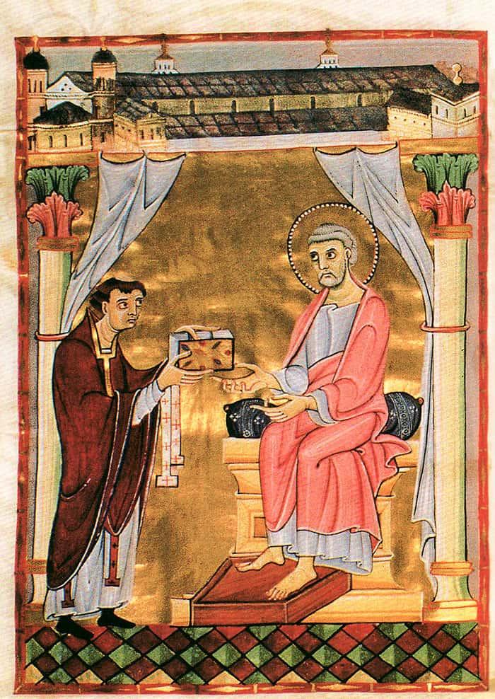 Страница из кодекса Гиллиниуса (Hillinus-Codex) 1025 года