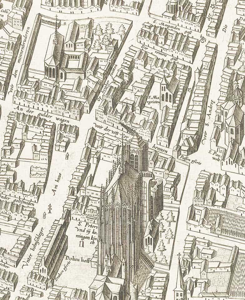 Арнольд Меркатор : вид на город Кельн с 1570 года (деталь)