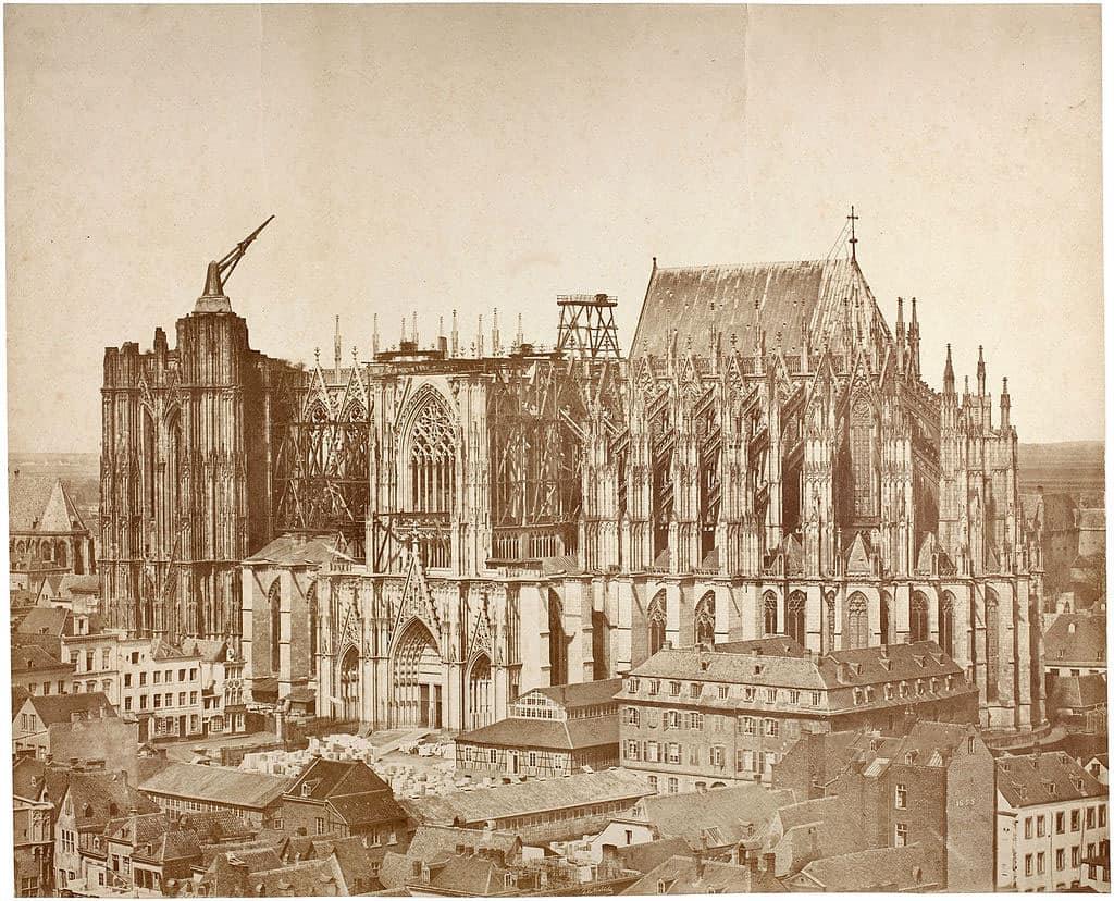 Кельнский собор, южная сторона, 1855 год
