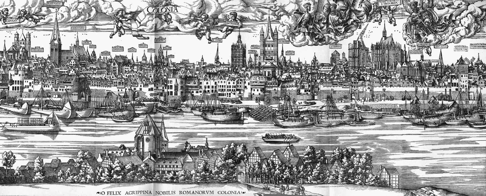 Антон фон Вормс. Панорама Кёльна с 1531 года