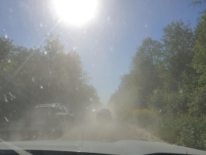 Дорога через садоводства в Назии
