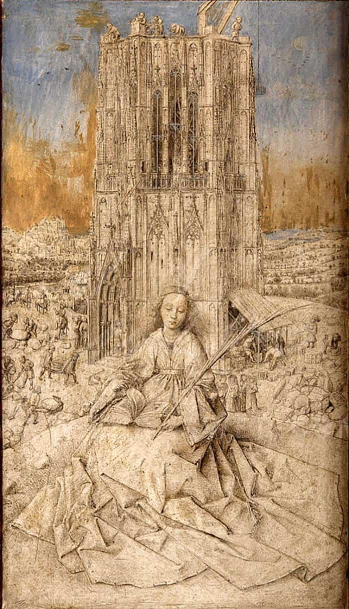 Ян Ван Эйк, Святая Барбара, 1437 год