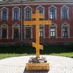 Староладожский Успенский женский монастырь - крест в честь игуменьи Евпраксии