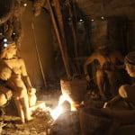 Стоянка первобытных людей, иллюстрация в музее Староладожской крепости