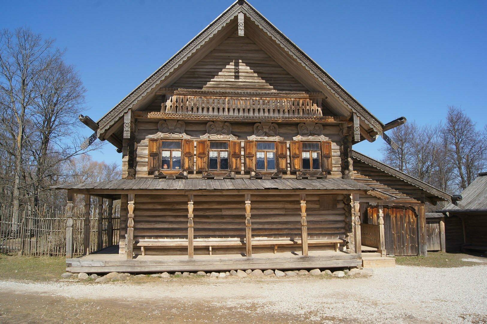 Изба М.Д. Екимовой. Музей деревянного зодчества в В. Новгороде