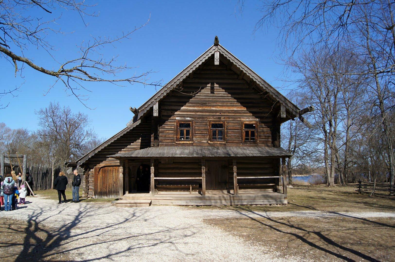 Изба В.А, Туницкого. Музей деревянного зодчества в Великом Новгороде.