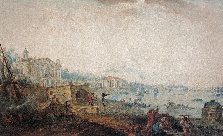 Картина дача Кушелева-Безбородко на 1800 год