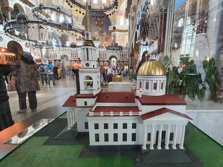 Макет Андреевского собора в Кронштадте