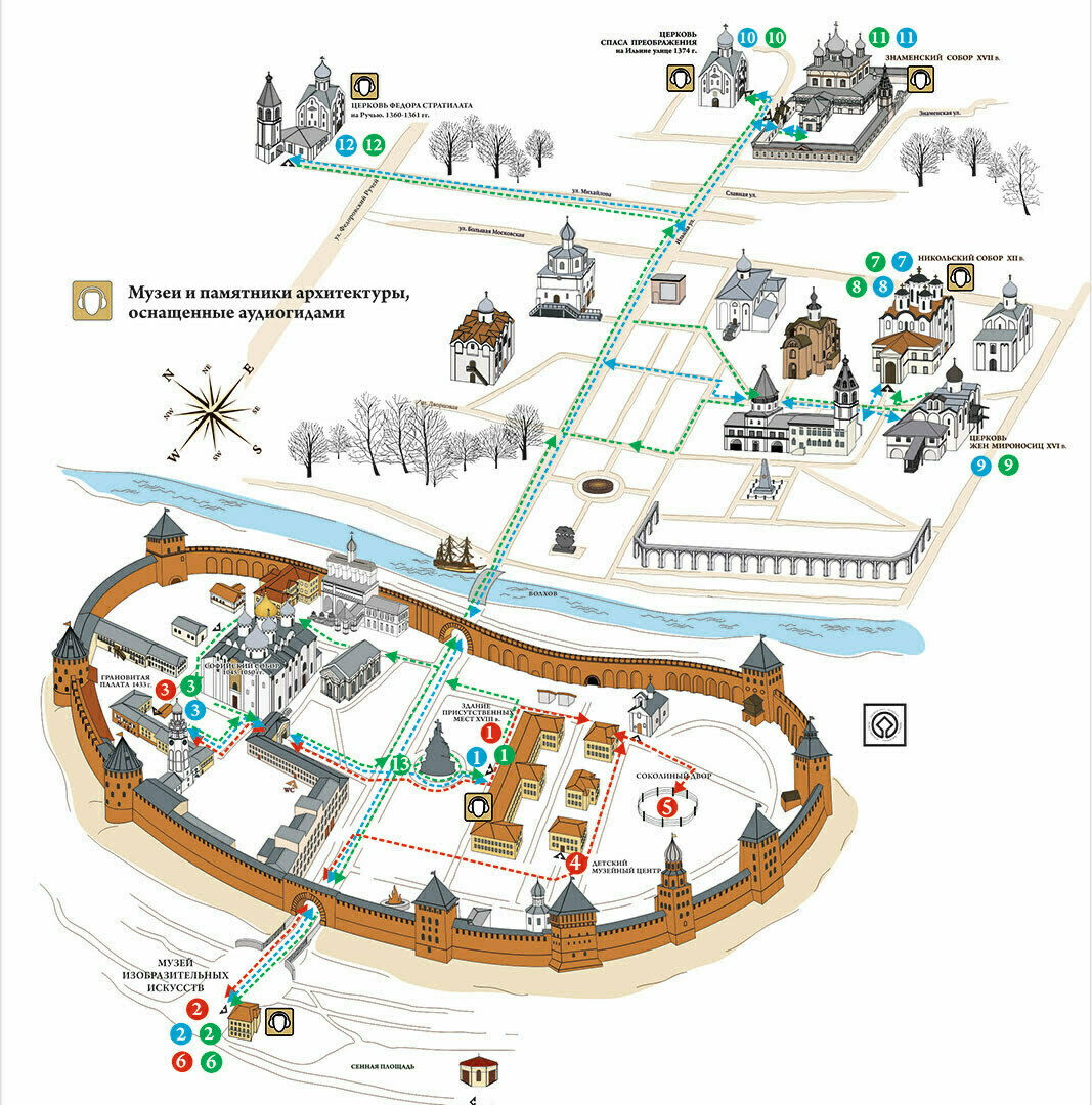 План-схема Великого Новгорода