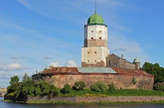 Выборгский замок и башня Святого Олафа
