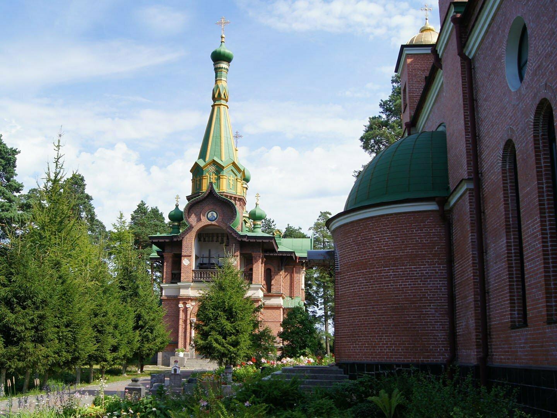 Церковь Всех Святых подворья Валаамского Спасо-Преображеского монастыря в Приозерске