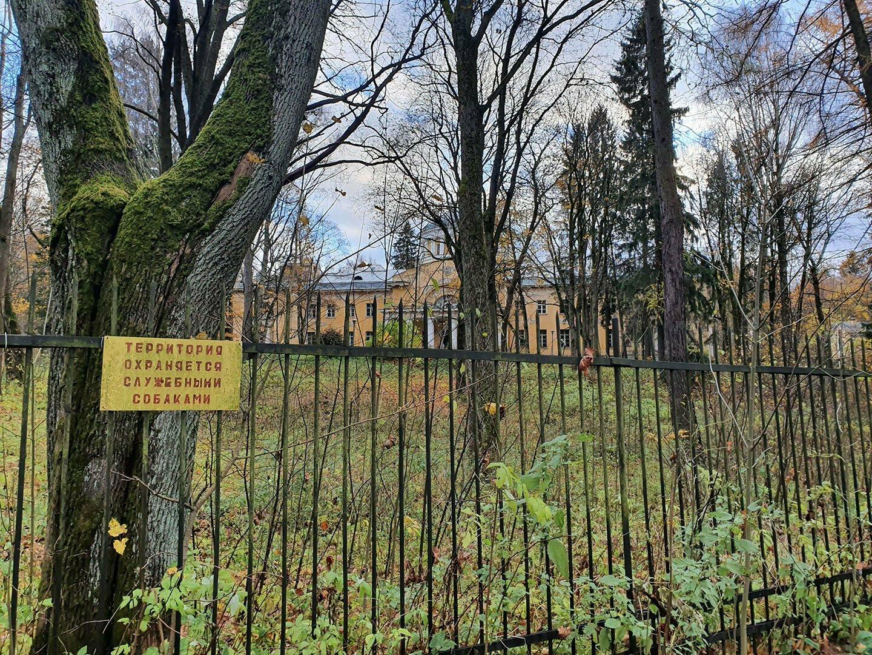 Забор вокруг НИИ Токов высокой частоты и Большой дворец
