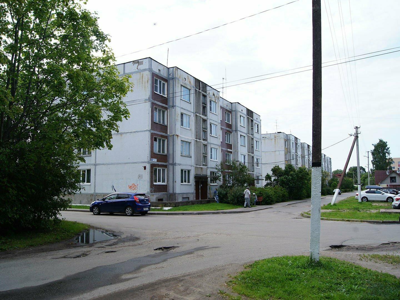 Дома советской постройки в Приозерске, рядом с кирхой