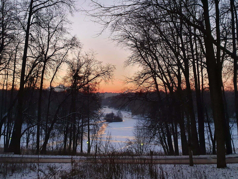 Закат в парке Царицыно