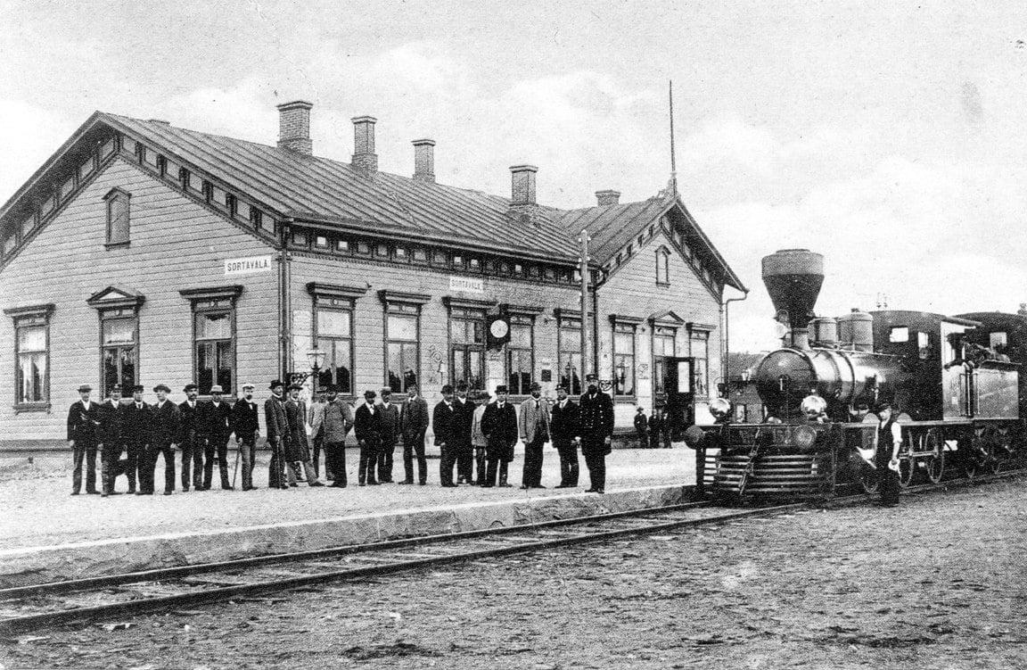 Железнодорожная станция Сортовалы начало XX века