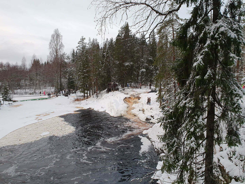 Водопад Ахвенкоски - зимой