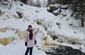 Водопад Белые мосты в марте