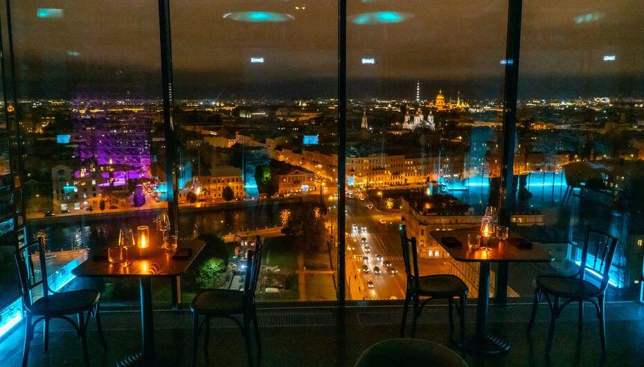 Sky Bar F11 панорамный ресторан в Петербурге